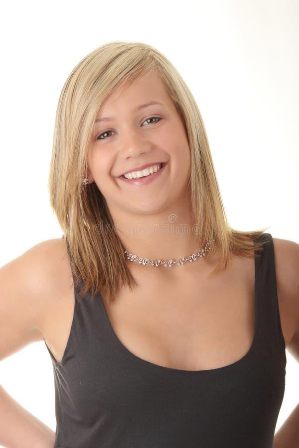 beaux jeunes blonds d'adolescente de fille image stock