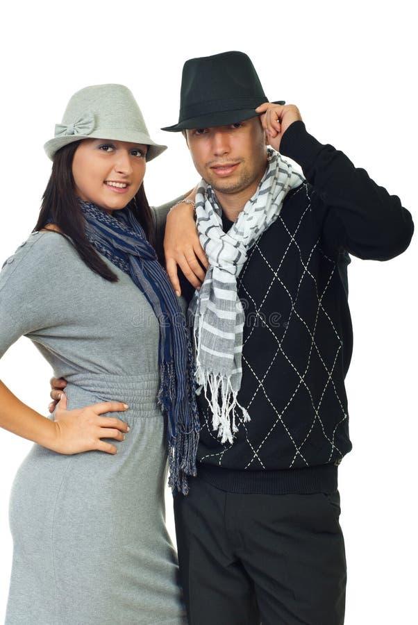 Beaux jeunes couples élégants photos stock