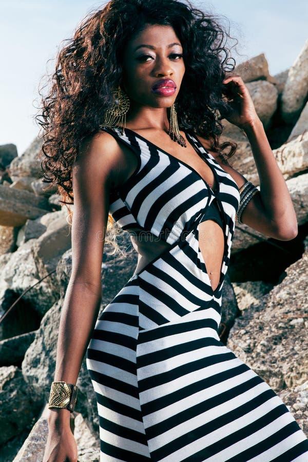 beaux jeunes de femme d'afro-américain photographie stock