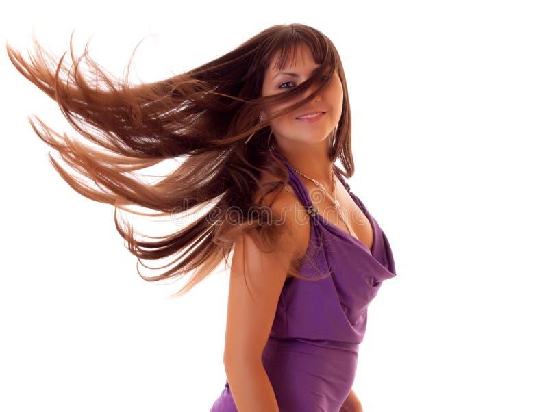 beaux jeunes de verticale de brunette photo libre de droits