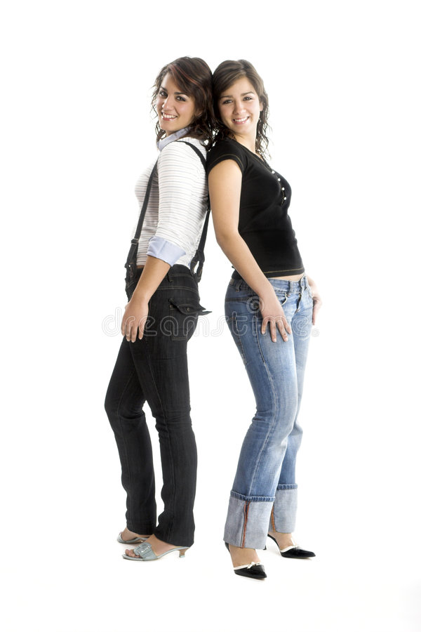Beaux jumeaux féminins images stock