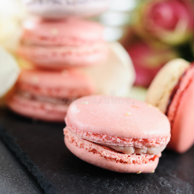 Beaux macarons images stock