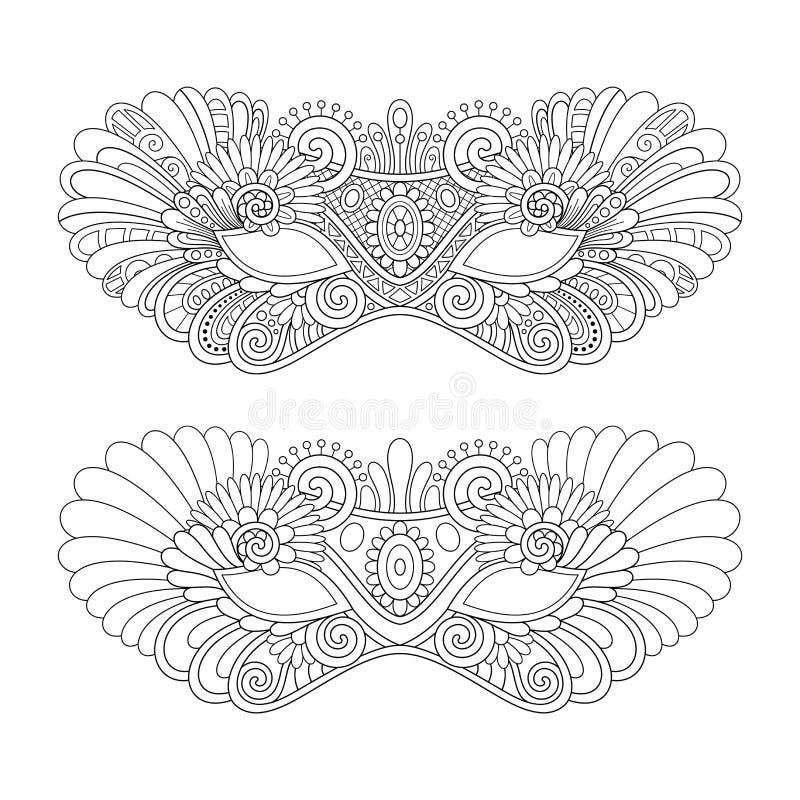 Beaux masques de mascarade de vecteur illustration libre de droits