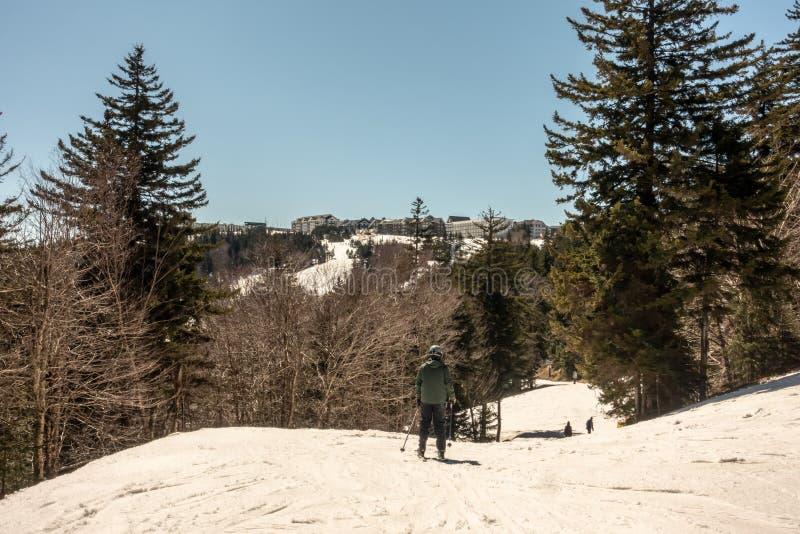 Beaux nature et paysage autour de station de sports d'hiver de raquette dans les cass la Virginie Occidentale photo libre de droits