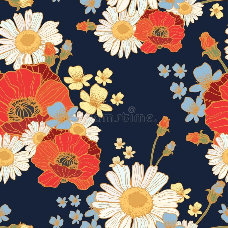 Beaux pavots de fleurs sauvages photographie stock libre de droits