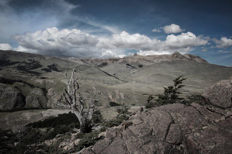 Beaux paysages dans le Patagonia image libre de droits