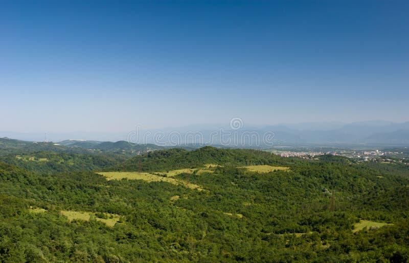 Beaux paysages de montagne, la Géorgie images stock
