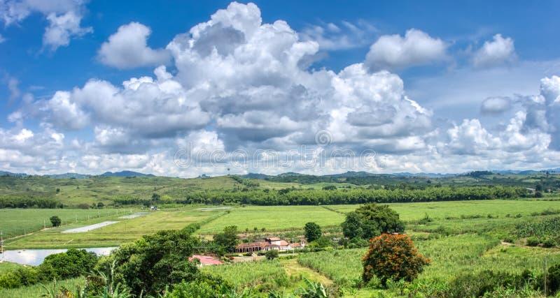 Beaux paysages du département de Valle photo stock