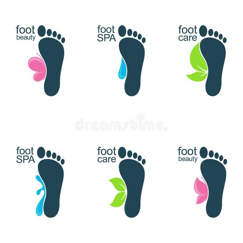 Beaux pieds illustration de vecteur
