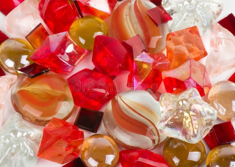 Beaux pierres et cristaux colorés lumineux photographie stock libre de droits
