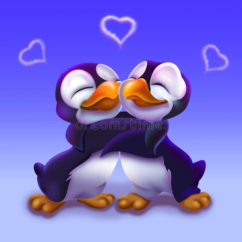 Beaux pingouins heureux illustration libre de droits