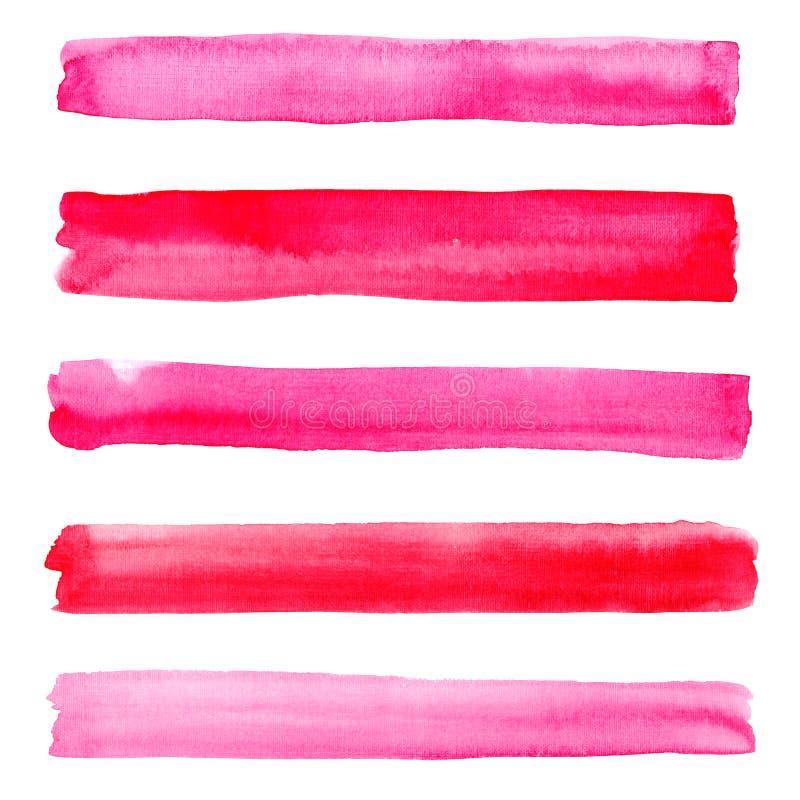 Beaux traits horizontaux magenta cramoisis roses rouges graphiques élégants magnifiques merveilleux sophistiqués abstraits modèle illustration stock