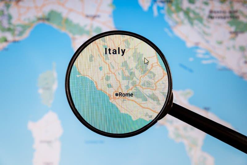 Beaux vieux hublots ? Rome (Italie) carte u politique d'e photo stock