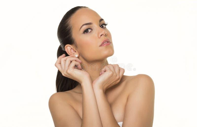 Beaux visages de femme images stock