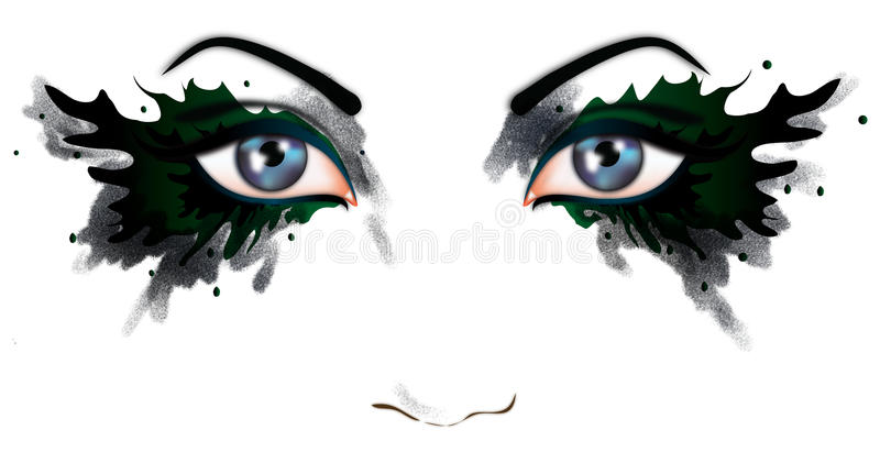 Beaux yeux d'un femme illustration de vecteur