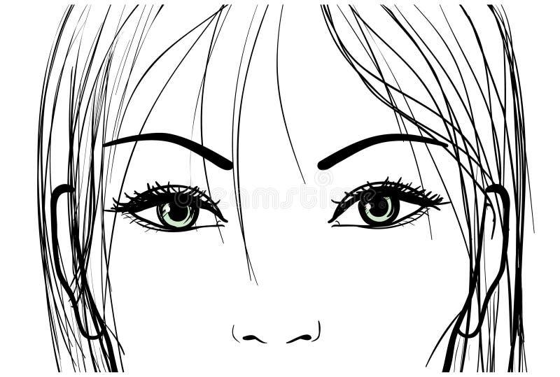 Beaux yeux de femme illustration de vecteur