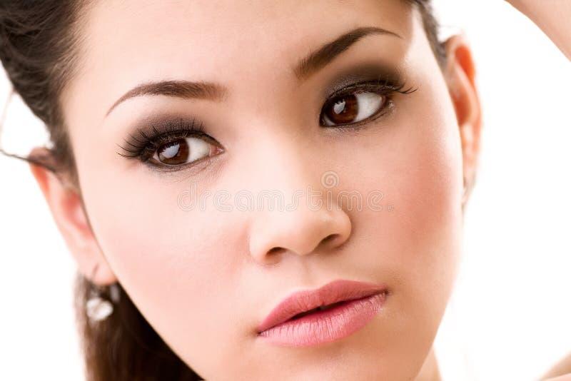 Beaux yeux de femme photographie stock libre de droits
