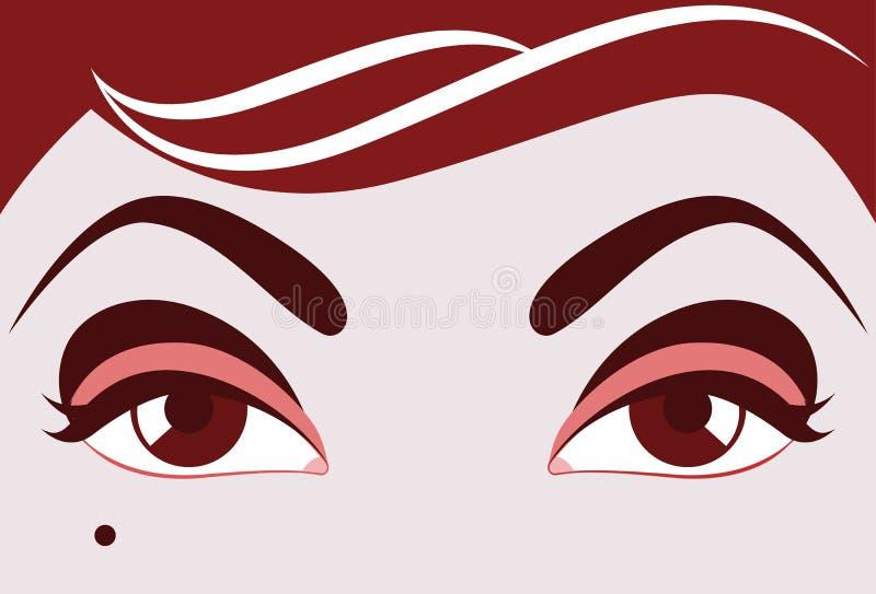 Beaux yeux de vecteur illustration stock