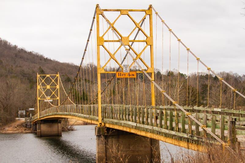 Beaver Bridge in Beaver Arkansas stock photography