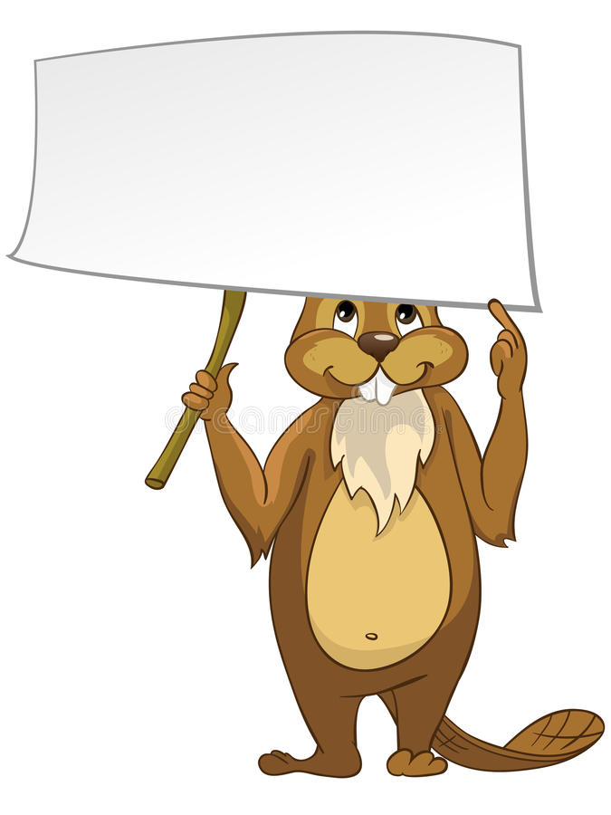 Download Beaver CREES stock vector. Image of empty, curious, happy - 24163490