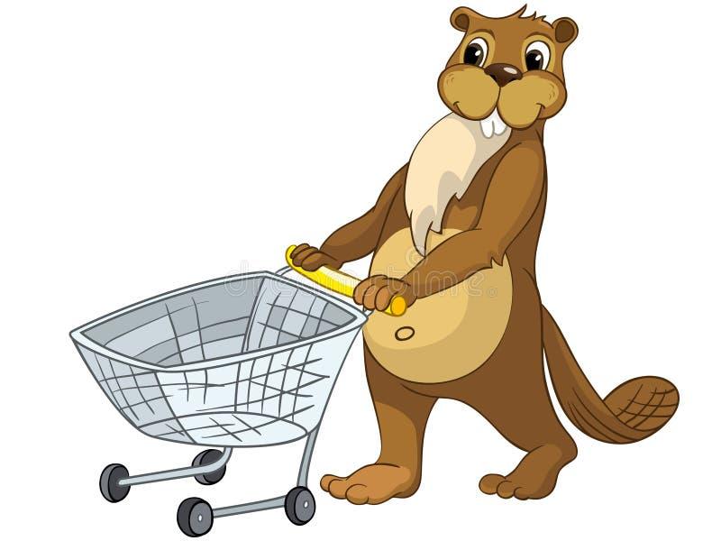 Beaver CREES lizenzfreie abbildung