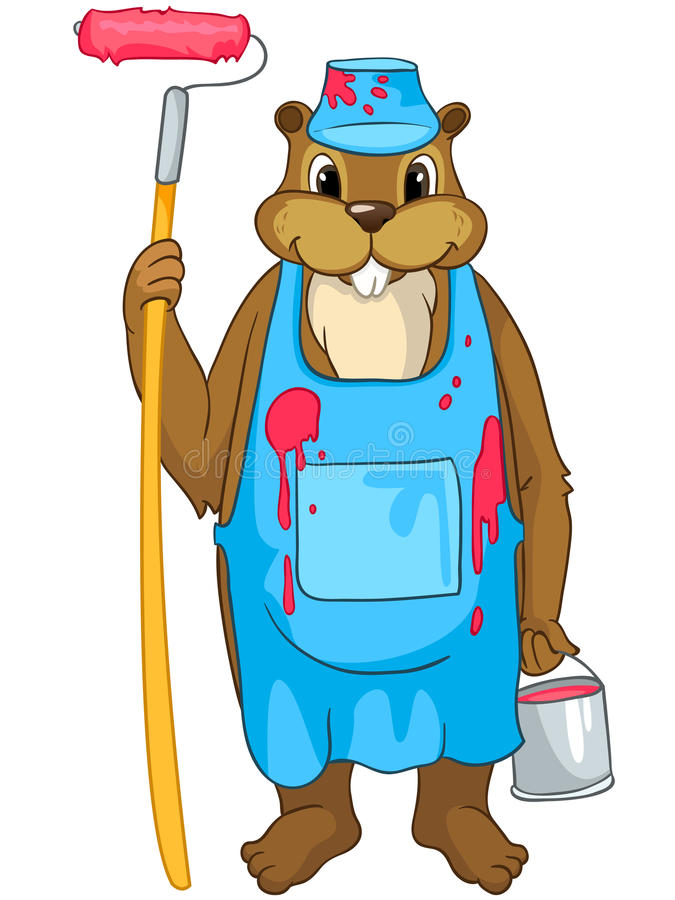 Beaver CREES stock illustration