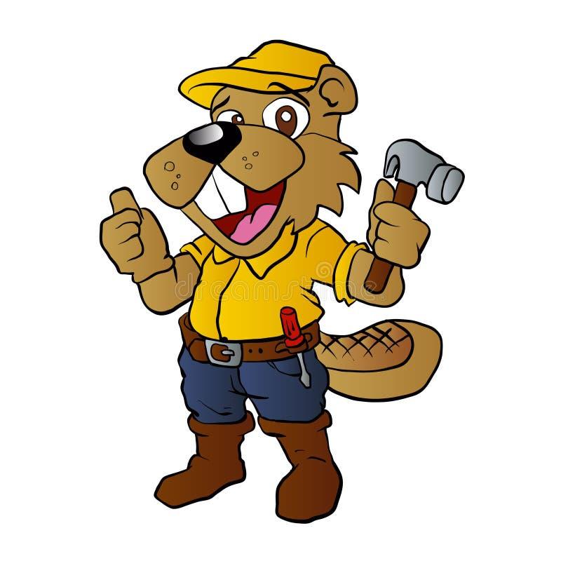 Vector Illustration Hammer: Beaver Holding A Hammer Stock Vector. Illustration Of