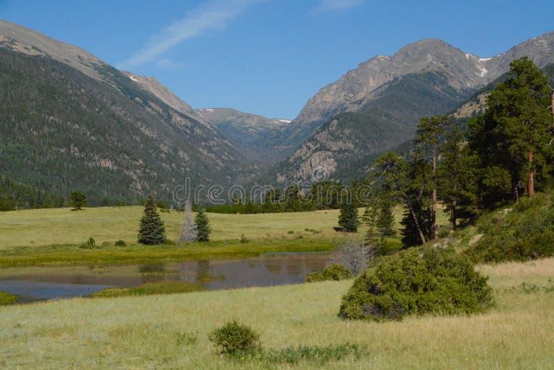 Beaver Meadows entrance to Rocky Mountain National Park. Colorado stock images