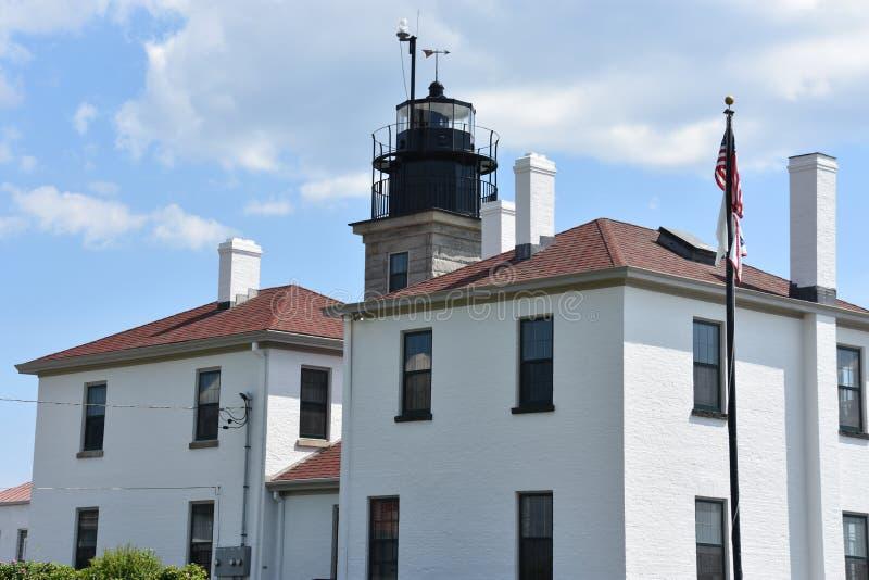 Beavertail fyr i Jamestown, Rhode - ö arkivfoton