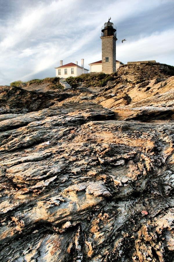 Download Beavertail Lighthouse stock image. Image of travel, landmark - 6758561