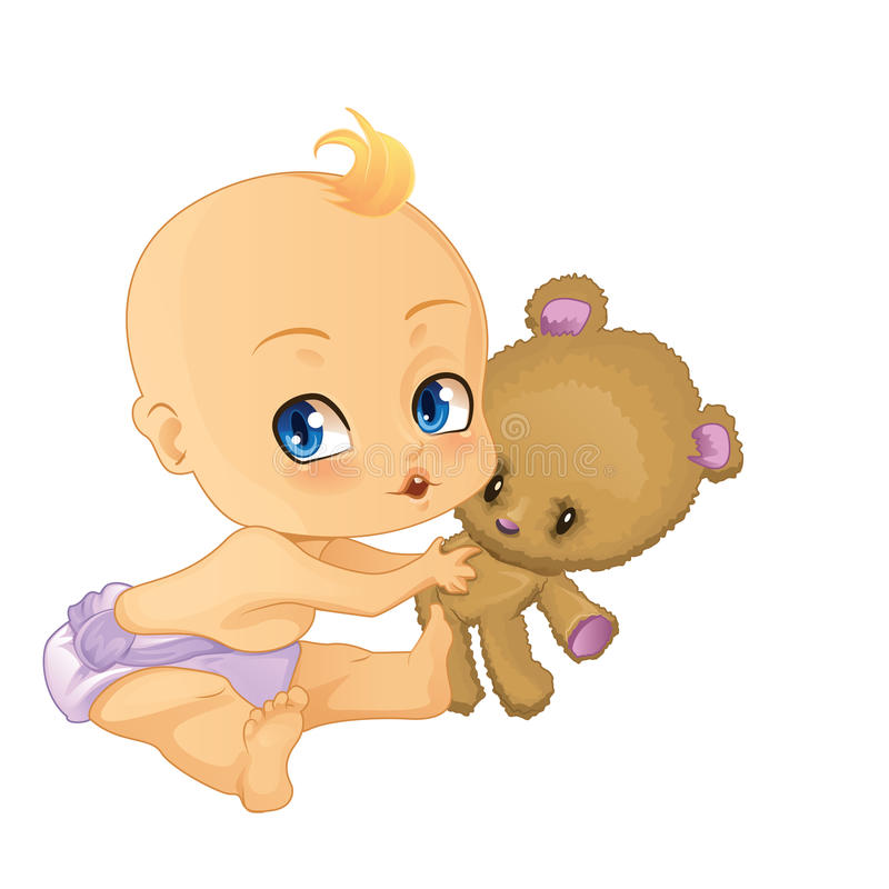 Bebé stock de ilustración