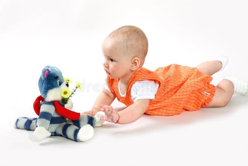 Bebé agradable foto de archivo libre de regalías