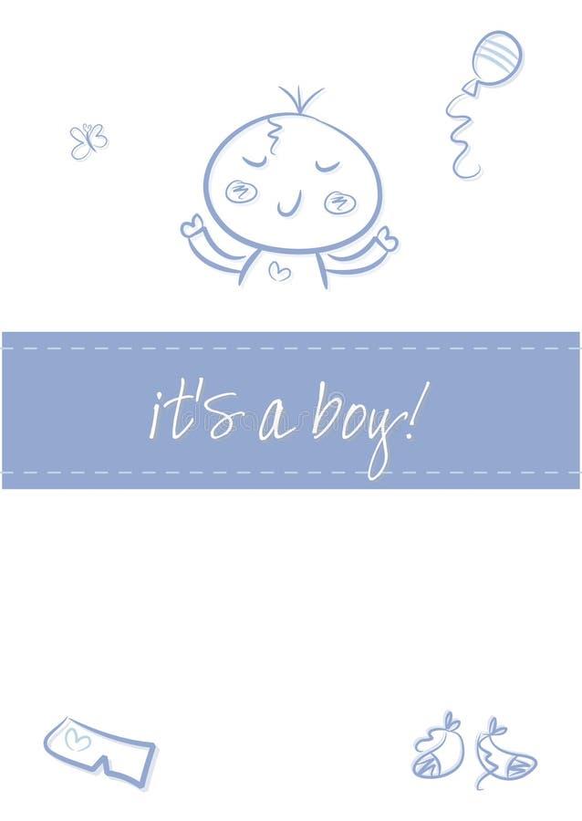 Bebé - anúncio do nascimento ilustração stock