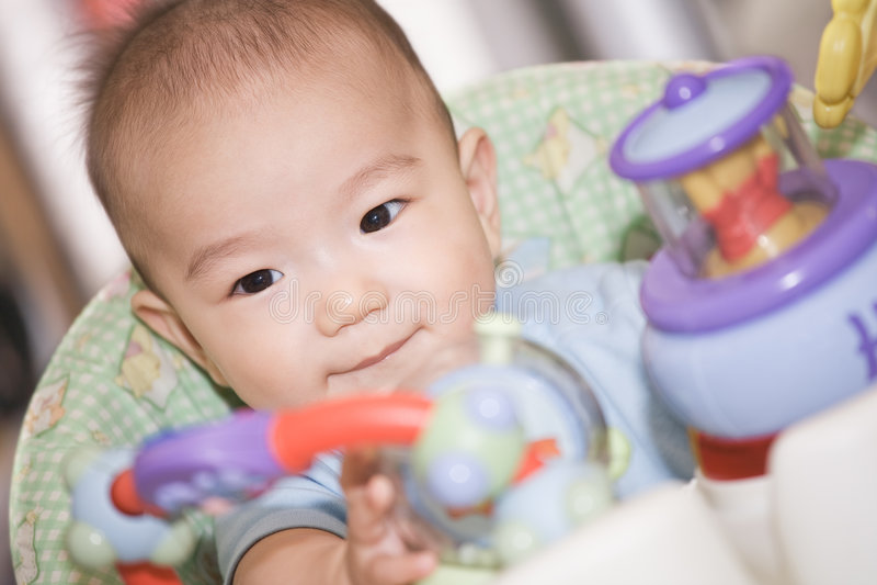 Bebé asiático foto de archivo libre de regalías