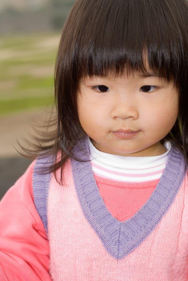 Bebé asiático lindo imagen de archivo