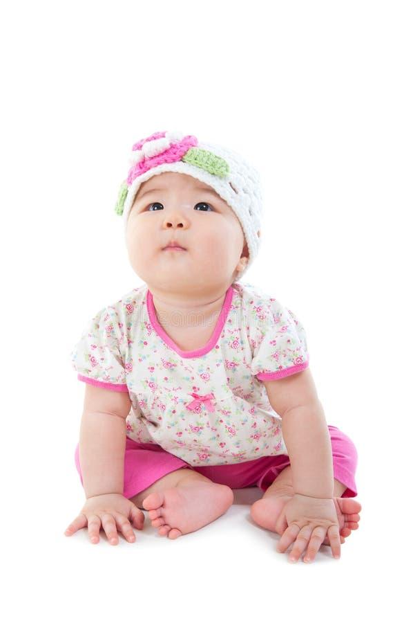 Bebé asiático lindo fotos de archivo libres de regalías