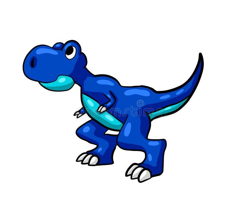 Bebé azul T Rex ilustración del vector