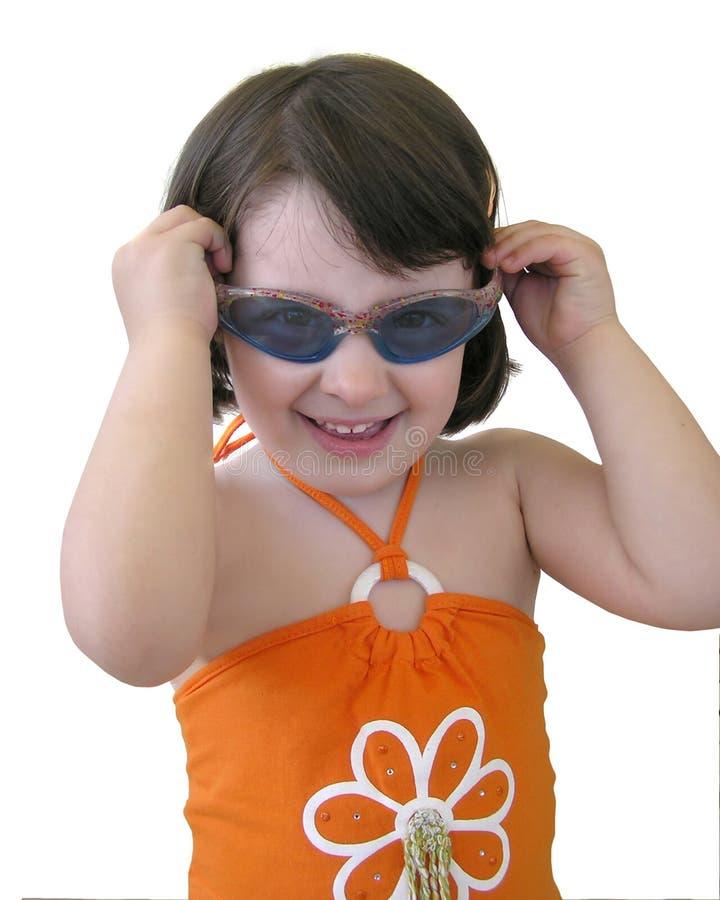 Bebé com óculos de sol fotografia de stock