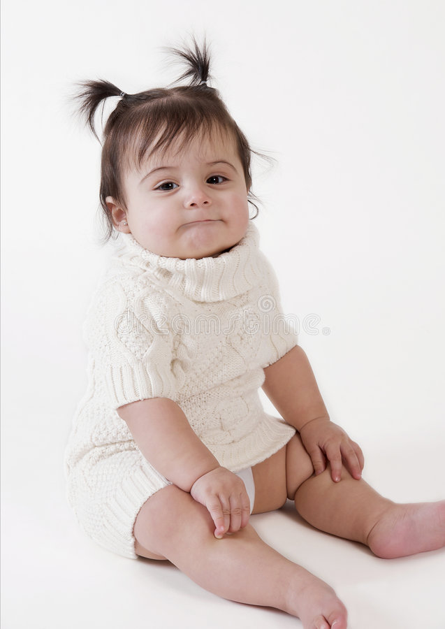 Bebé com expressão engraçada fotos de stock royalty free
