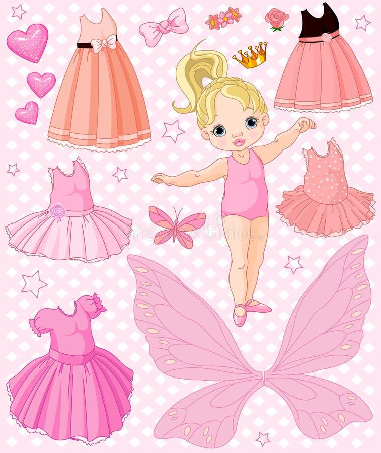 Bebé com vestidos diferentes ilustração do vetor
