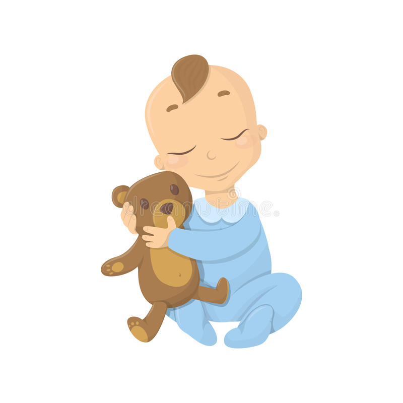 Bebé con el oso libre illustration