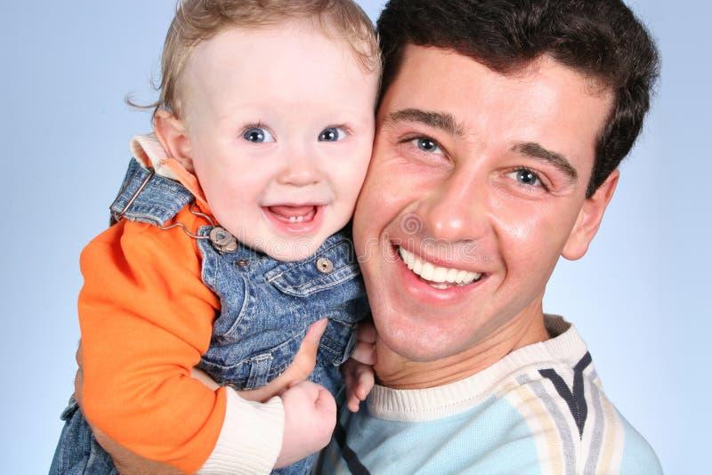 Bebé con el padre imágenes de archivo libres de regalías