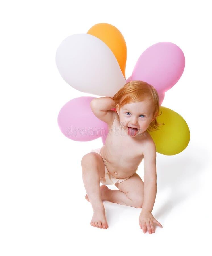 Bebé con impulso fotos de archivo libres de regalías