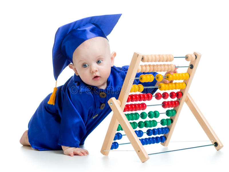 Bebé de aprendizaje temprano imagen de archivo