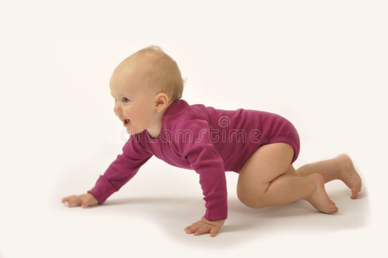 Bebé de arrastre imagenes de archivo