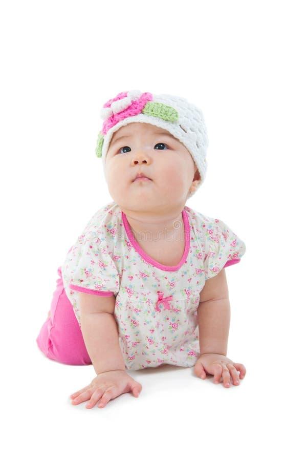 Bebé de arrastre asiático imágenes de archivo libres de regalías