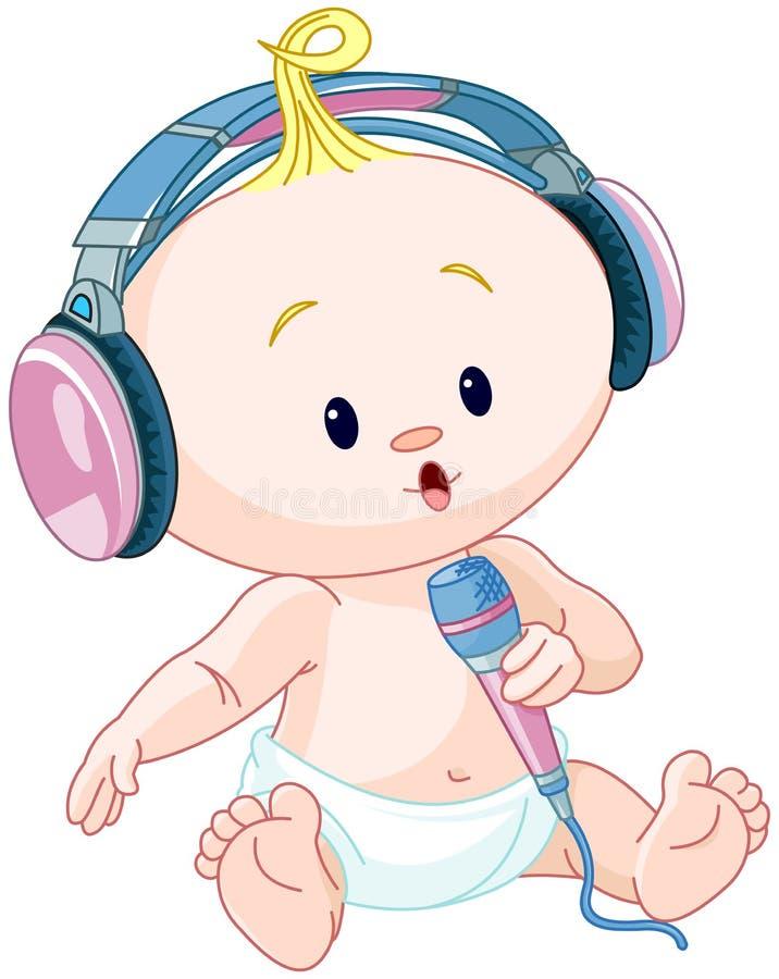 Bebé de DJ stock de ilustración