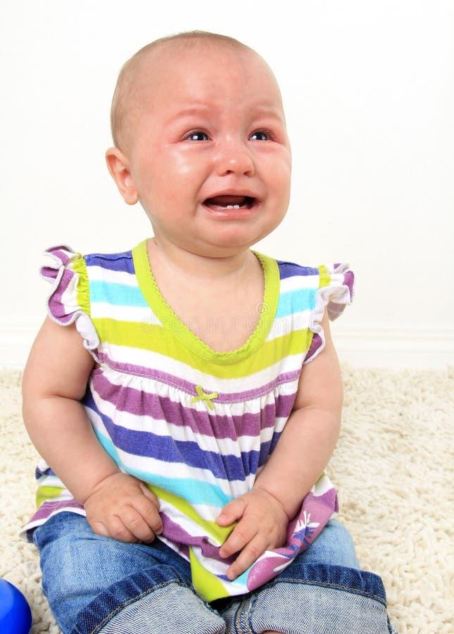 Bebé de grito fotografia de stock royalty free