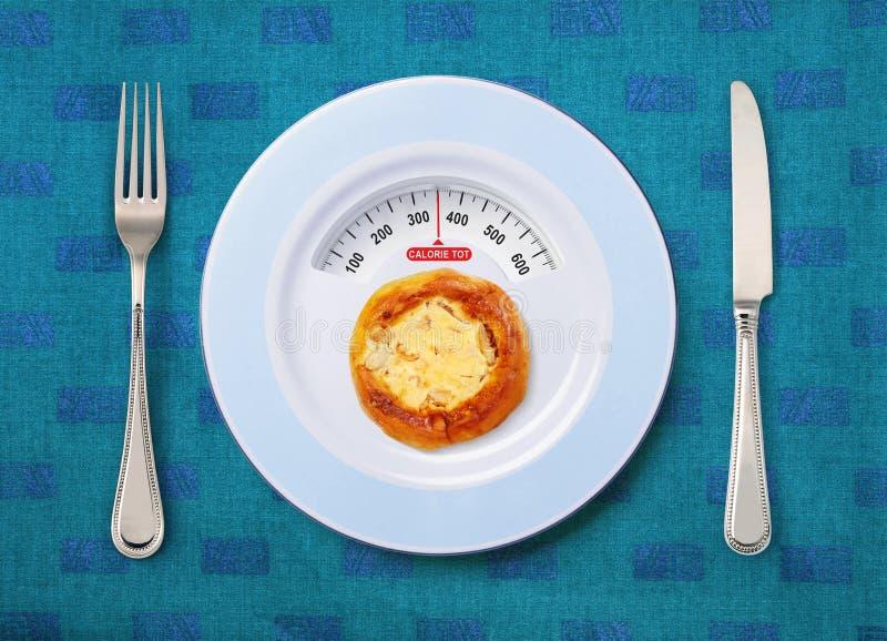 Bebé de la caloría de la pizza imagen de archivo