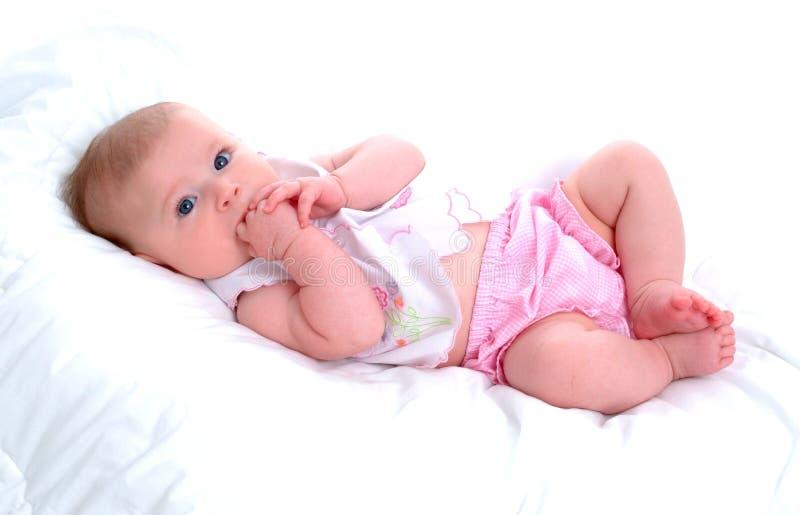 Bebé de la dentición imagen de archivo